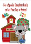 First Day at School Card Design 6
